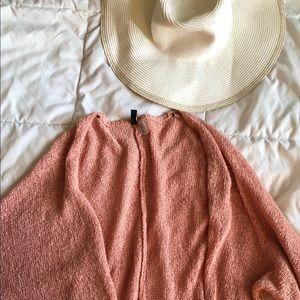 HM Coral/Peach Cardigan, Size M🌼